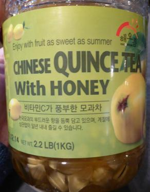 quince tea with honey